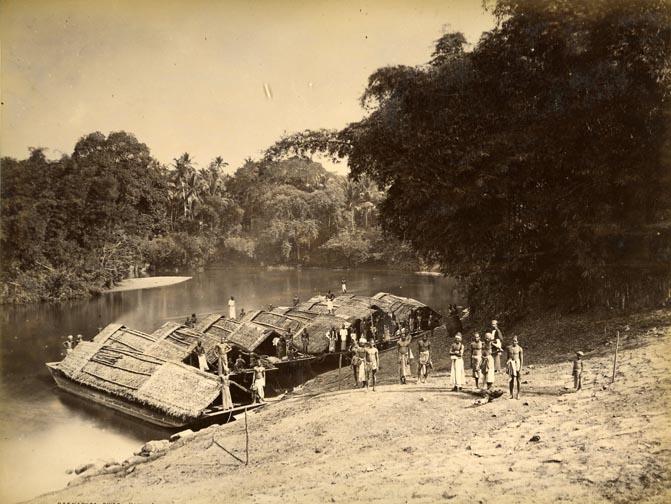 House Boats, Ratnapura River (Kalu Ganga)